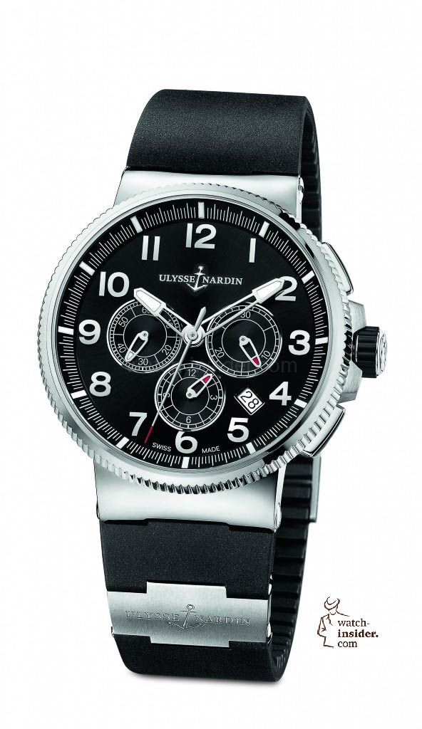 www.watch insider.com | reportages news  | The new Ulysse Nardin Marine Chronograph Manufacture with in house caliber UN 150 | 1503 150 3 62 592x1024