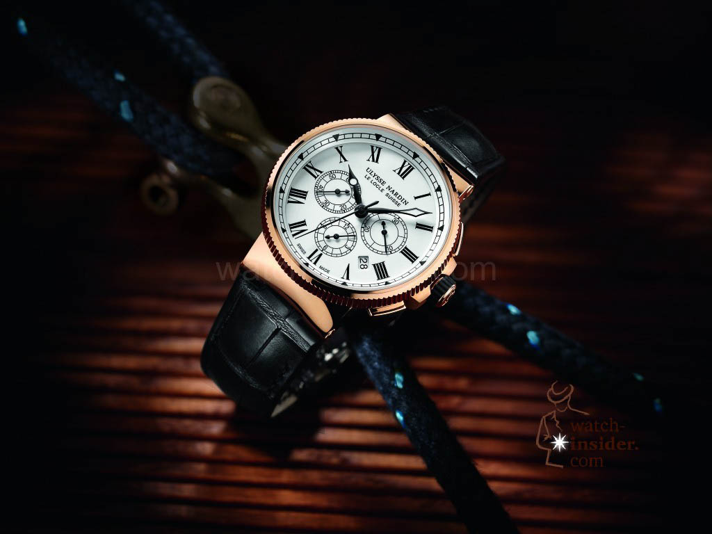 www.watch insider.com | reportages news  | The new Ulysse Nardin Marine Chronograph Manufacture with in house caliber UN 150 | 1506 150LE amb 1024x768