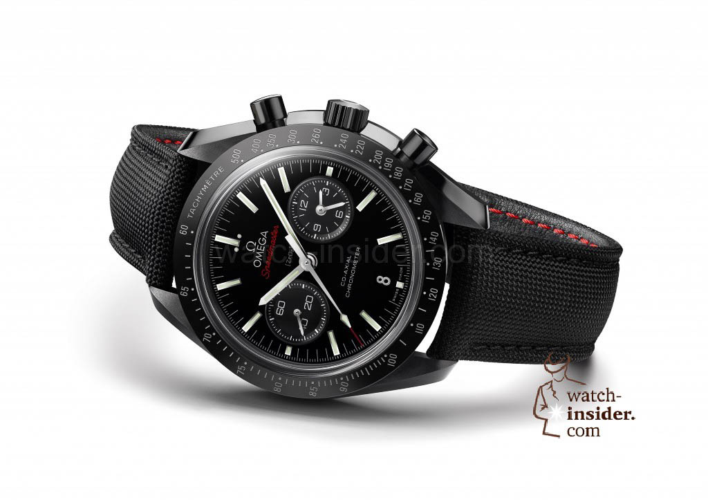 www.watch insider.com | reportages news  | After SIHH and Baselworld, what are the most looked for and wanted wristwatch novelties 2013? | BASELWORLD2013 speedmaster moonwatch black ceramic white background 1024x723