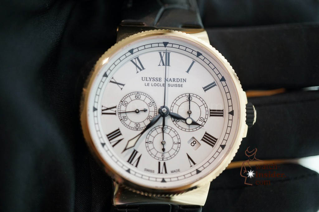 www.watch insider.com | reportages news  | The new Ulysse Nardin Marine Chronograph Manufacture with in house caliber UN 150 | DSC03148 1024x683