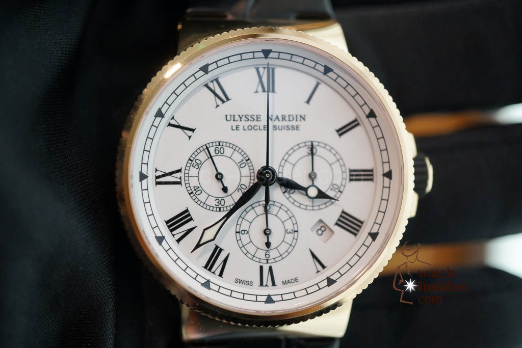 www.watch insider.com | reportages news  | The new Ulysse Nardin Marine Chronograph Manufacture with in house caliber UN 150 | DSC03149 1024x683