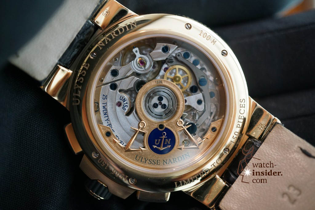 www.watch insider.com | reportages news  | The new Ulysse Nardin Marine Chronograph Manufacture with in house caliber UN 150 | DSC03151 1024x683