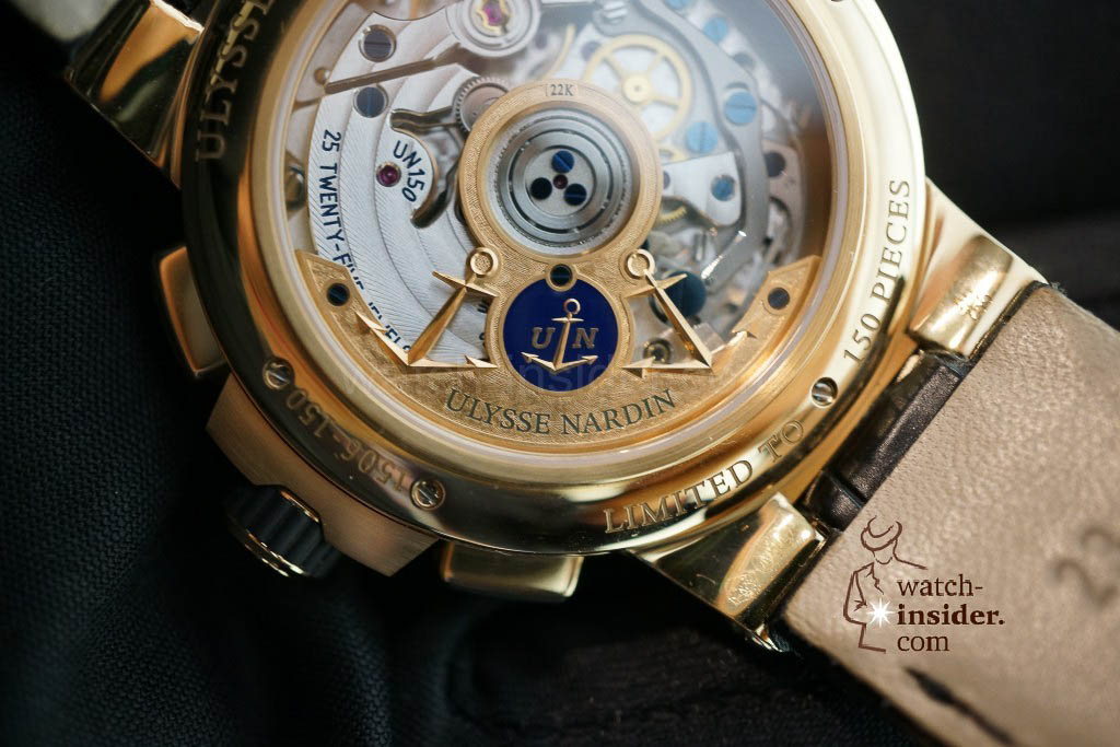 www.watch insider.com | reportages news  | The new Ulysse Nardin Marine Chronograph Manufacture with in house caliber UN 150 | DSC03152 1024x683