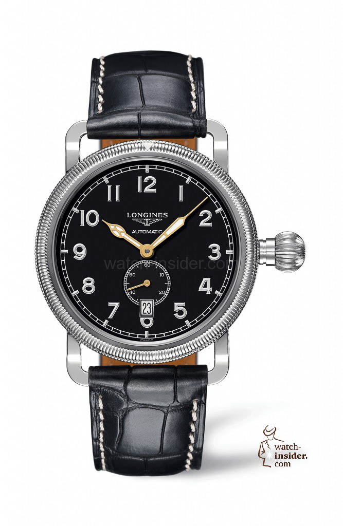 www.watch insider.com | reportages news  | The Longines Avigation Oversize Crown | L2.777.4.53 667x1024