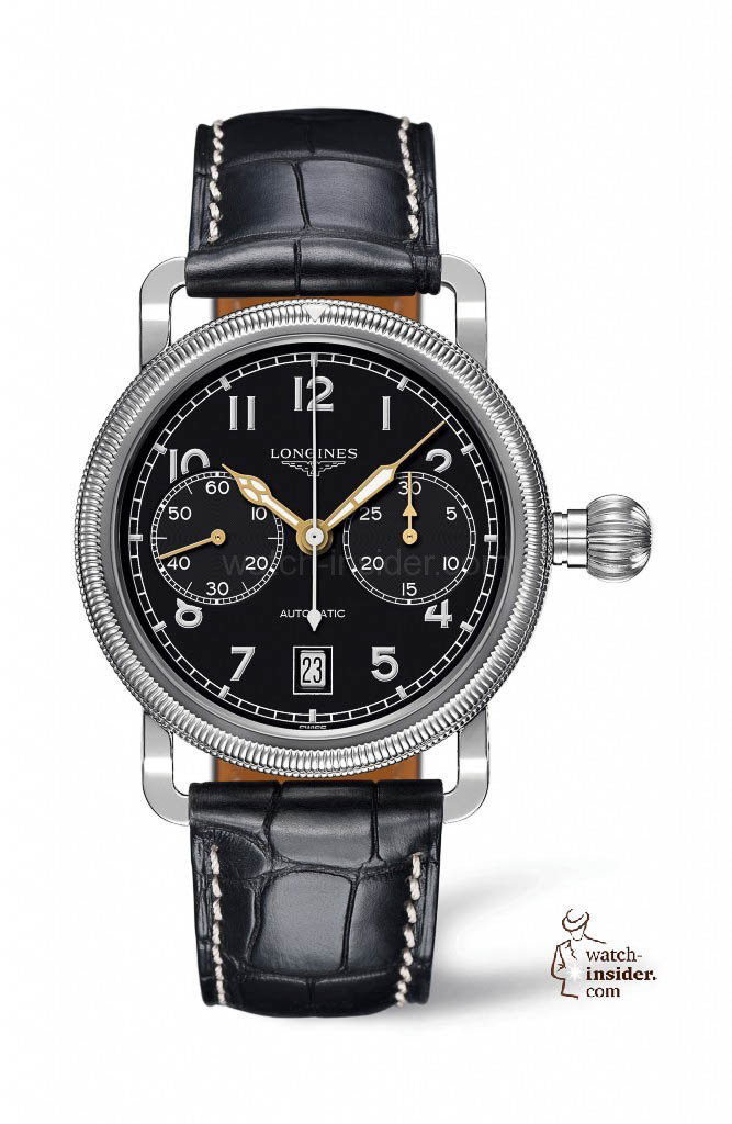 www.watch insider.com | reportages news  | The Longines Avigation Oversize Crown | L2.783.4.53 667x1024