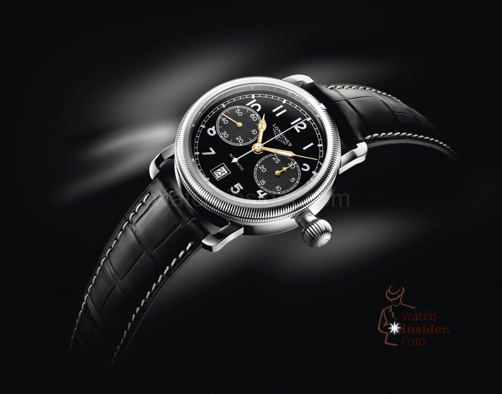 www.watch insider.com | reportages news  | The Longines Avigation Oversize Crown | L2.783.4.53.2.1 PR011 1024x804