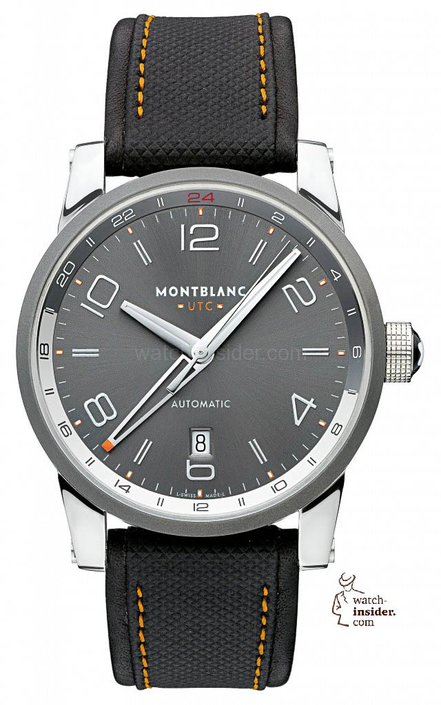 www.watch insider.com | videos reportages news  | To accomplish my series of Montblanc videos I invite you to discover the TimeWalker World Time Hemispheres and the TimeWalker Voyager UTC | Montblanc 109137 TimeWalker Voyager UTC front 640x1024
