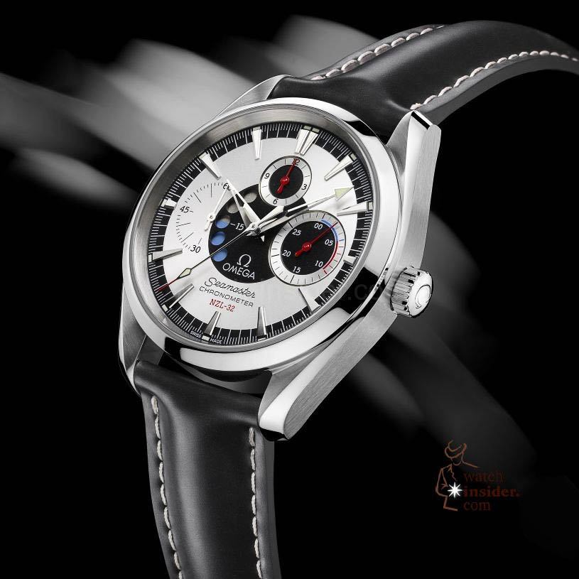 www.watch insider.com | reportages  | The Omega Regatta Watches since 2000 | Omega Seamaster NZL 32 Chrono quadr red