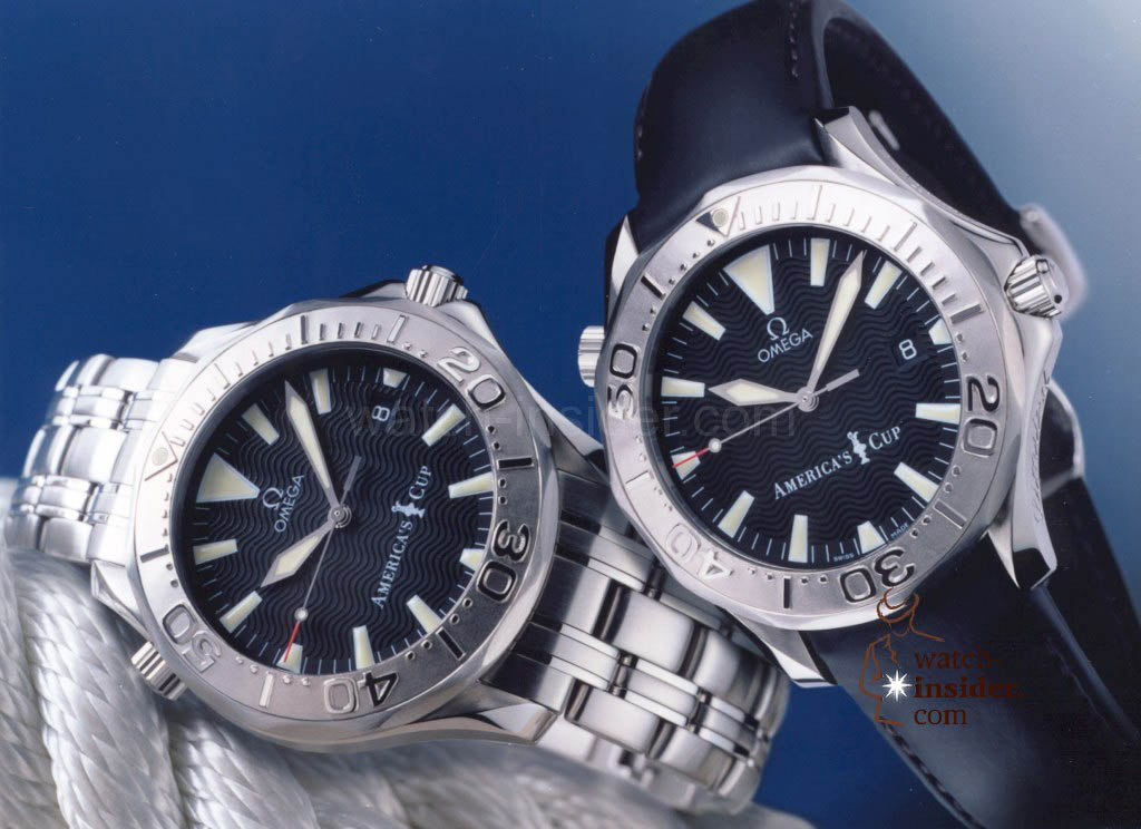 www.watch insider.com | reportages  | The Omega Regatta Watches since 2000 | Omega Seamaster Diver 300m Americas Cup 2000 2533.50.00 2833.50.91 pr 1024x744