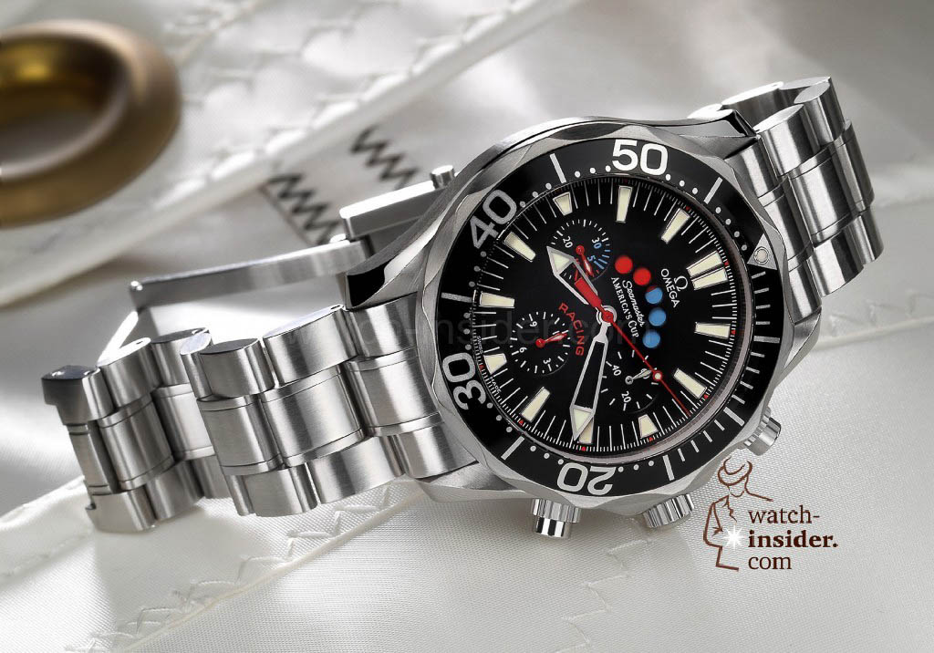 www.watch insider.com | reportages  | The Omega Regatta Watches since 2000 | Omega Seamaster Racing Chrono Americas Cup 2003 ST 2569.52.00 pr red 1024x716
