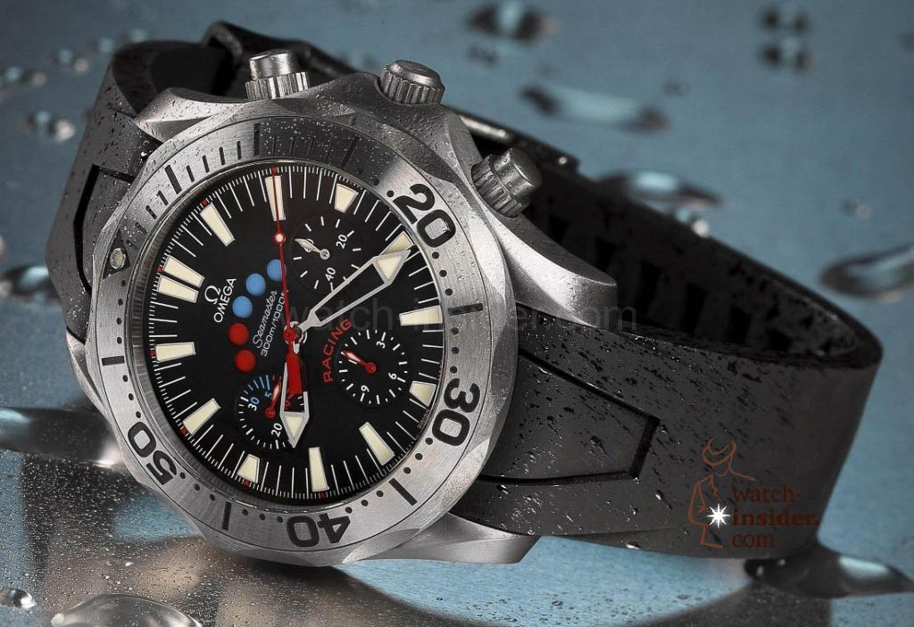 www.watch insider.com | reportages  | The Omega Regatta Watches since 2000 | Omega Seamaster Racing Chrono Americas Cup 2003 TI 2969.52.91 pr red 1024x703