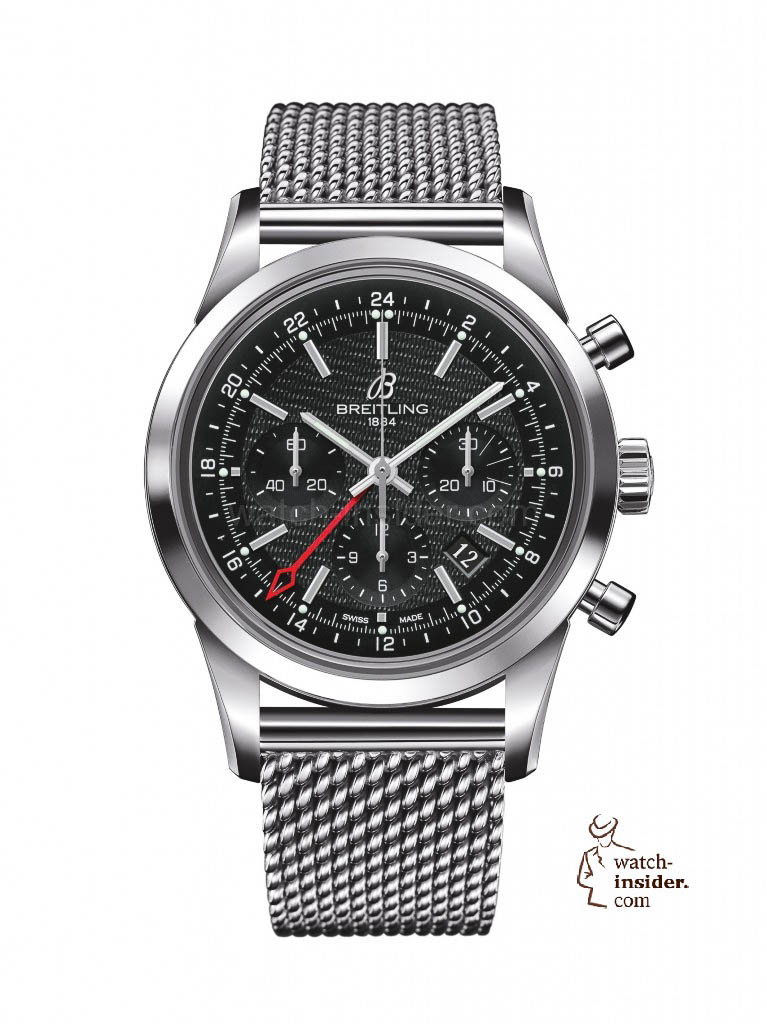 www.watch insider.com | reportages news  | After SIHH and Baselworld, what are the most looked for and wanted wristwatch novelties 2013? | transocean chrono gmt steel white 767x1024