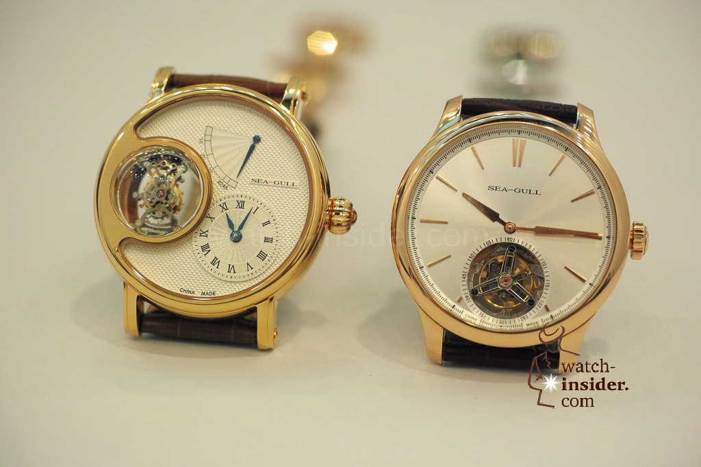 www.watch insider.com | videos reportages news  | My Chinese contributor Logan is showing us today two quite particular Sea Gull tourbillon timepieces. He discovered them at the Hong Kong Watch & Clock Fair. | 251 1024x682
