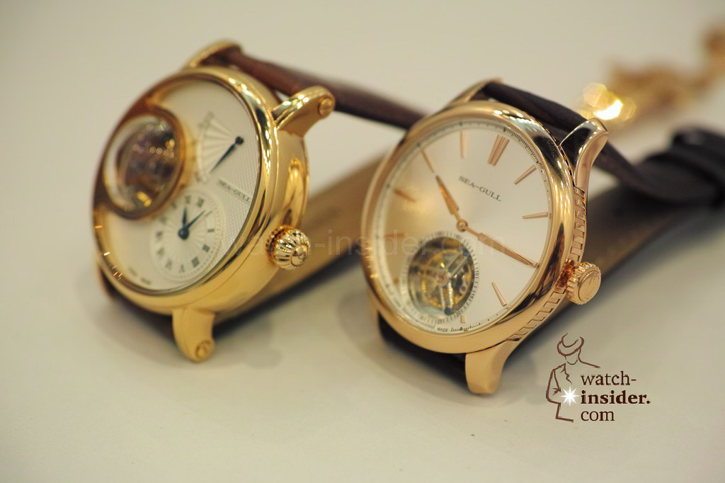 www.watch insider.com | videos reportages news  | My Chinese contributor Logan is showing us today two quite particular Sea Gull tourbillon timepieces. He discovered them at the Hong Kong Watch & Clock Fair. | 261 1024x682