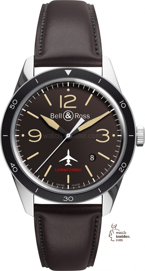 www.watch insider.com | reportages news  | Bell & Ross pays tribute to the 50th anniversary of Dassault's famous Mystère Falcon 20 | Bell Ross Vintage BR 123 Falcon EUR 2.400 550x1024