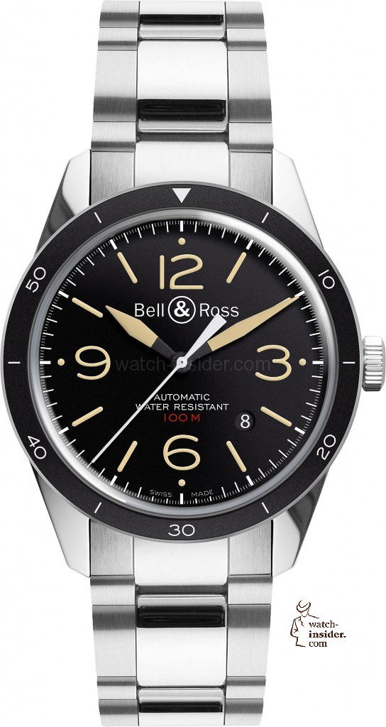 www.watch insider.com | reportages news  | Bell & Ross pays tribute to the 50th anniversary of Dassault's famous Mystère Falcon 20 | Bell Ross Vintage BR 123 Sport Heritage Steel EUR 2.200 544x1024