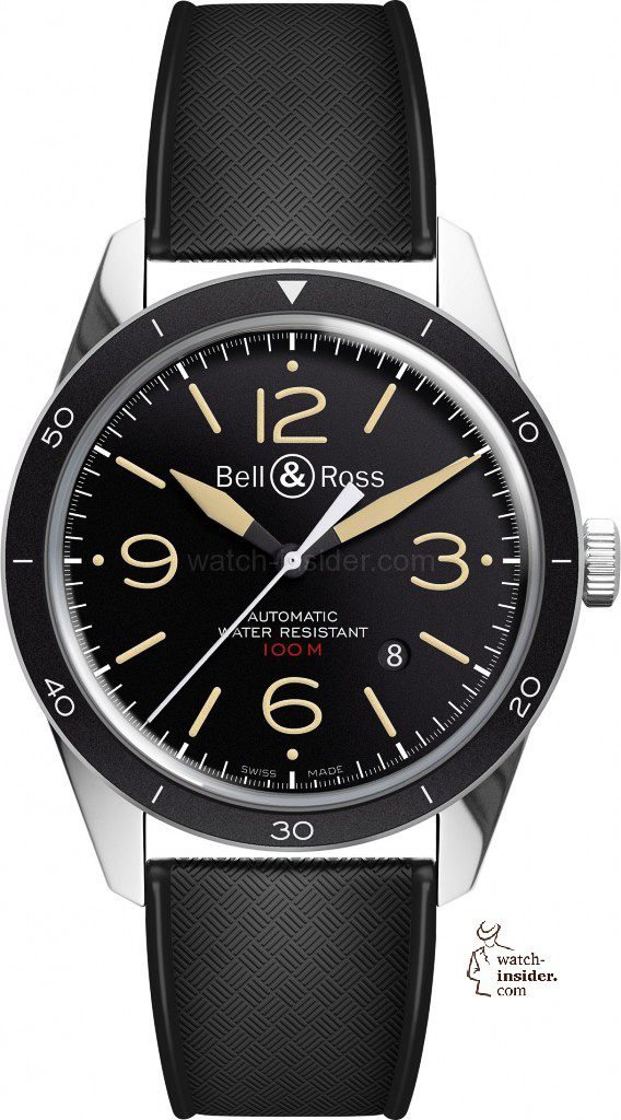 www.watch insider.com | reportages news  | Bell & Ross pays tribute to the 50th anniversary of Dassault's famous Mystère Falcon 20 | Bell Ross Vintage BR 123 Sport Heritage EUR 2.200 568x1024