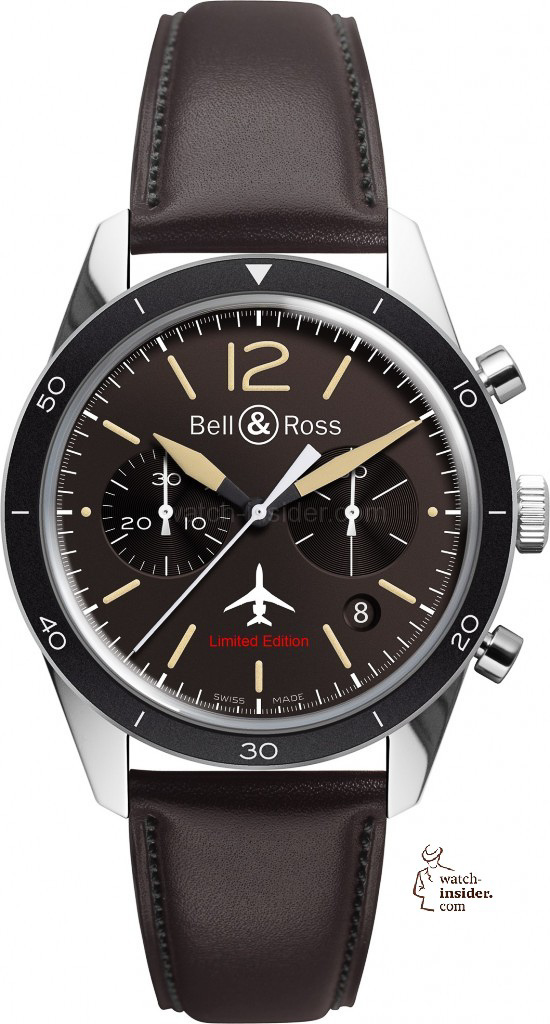 www.watch insider.com | reportages news  | Bell & Ross pays tribute to the 50th anniversary of Dassault's famous Mystère Falcon 20 | Bell Ross Vintage BR 126 Falcon EUR 3.400 550x1024
