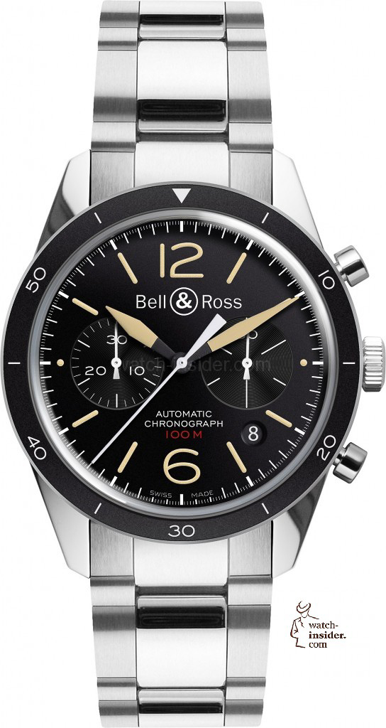 www.watch insider.com | reportages news  | Bell & Ross pays tribute to the 50th anniversary of Dassault's famous Mystère Falcon 20 | Bell Ross Vintage BR 126 Sport Heritage Steel EUR 3.200 544x1024