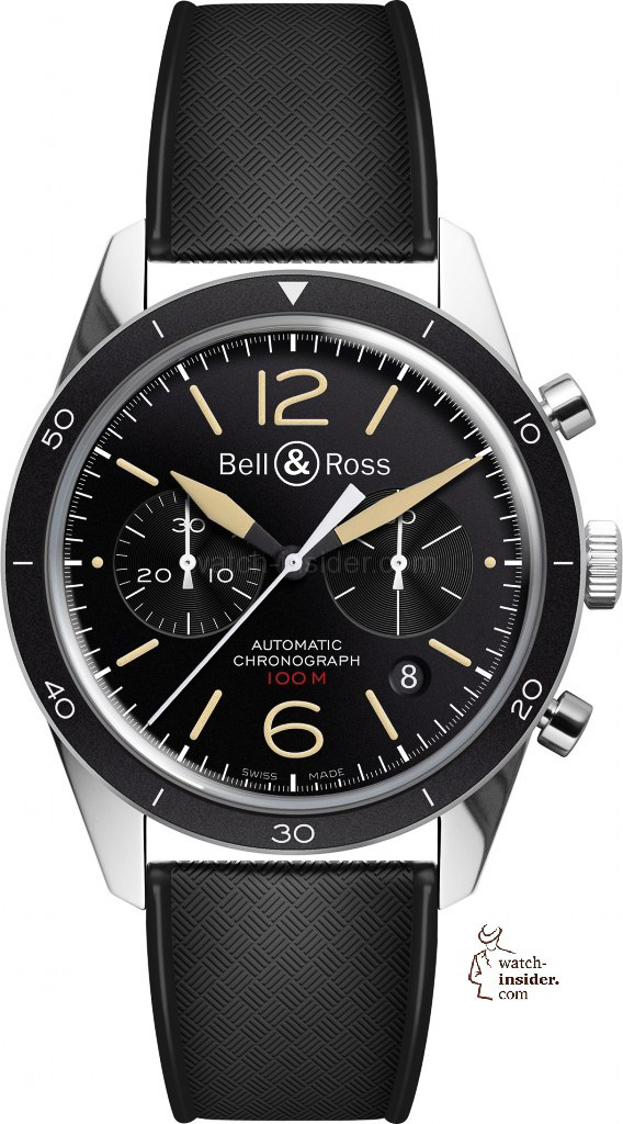 www.watch insider.com | reportages news  | Bell & Ross pays tribute to the 50th anniversary of Dassault's famous Mystère Falcon 20 | Bell Ross Vintage BR 126 Sport Heritage EUR 3.200 568x1024