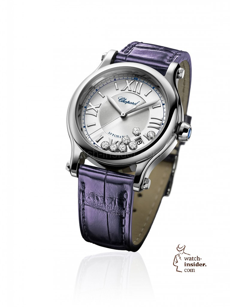 www.watch insider.com | reportages  | It's ladies' time. My personal top 15 ladies watches 2013 | Chopard Happy Sport Medium Automatic 768x1024