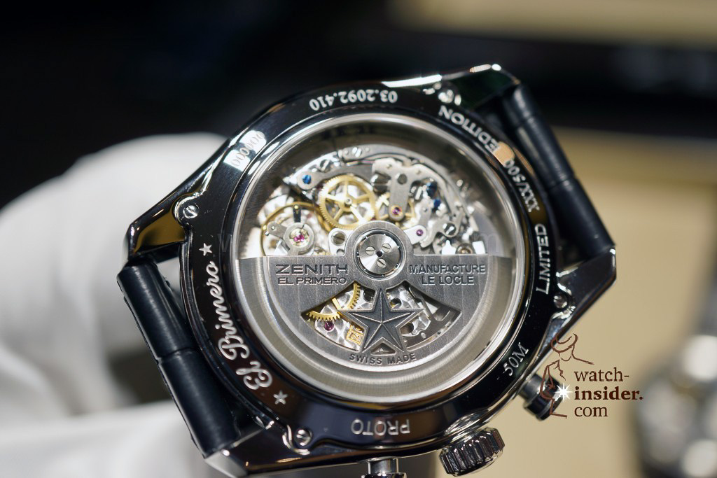 Zenith El Primero 410 Limited Edition prototype at Baselworld 2013