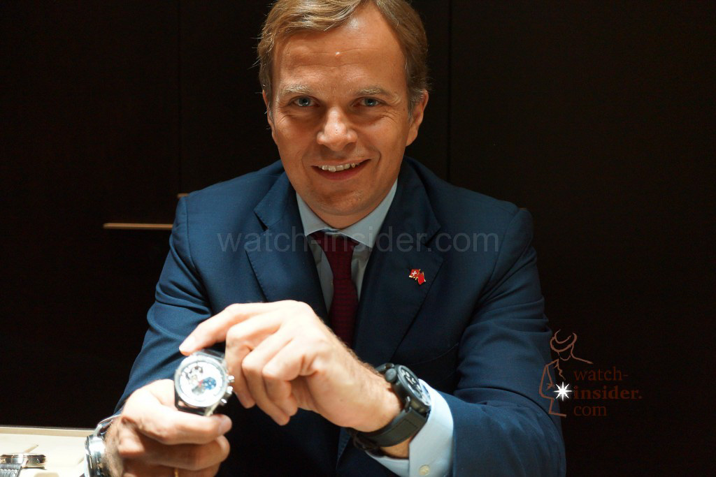 Zenith CEO Jean-Fred Dufour this year whilst showing me his  Baselworld novelties