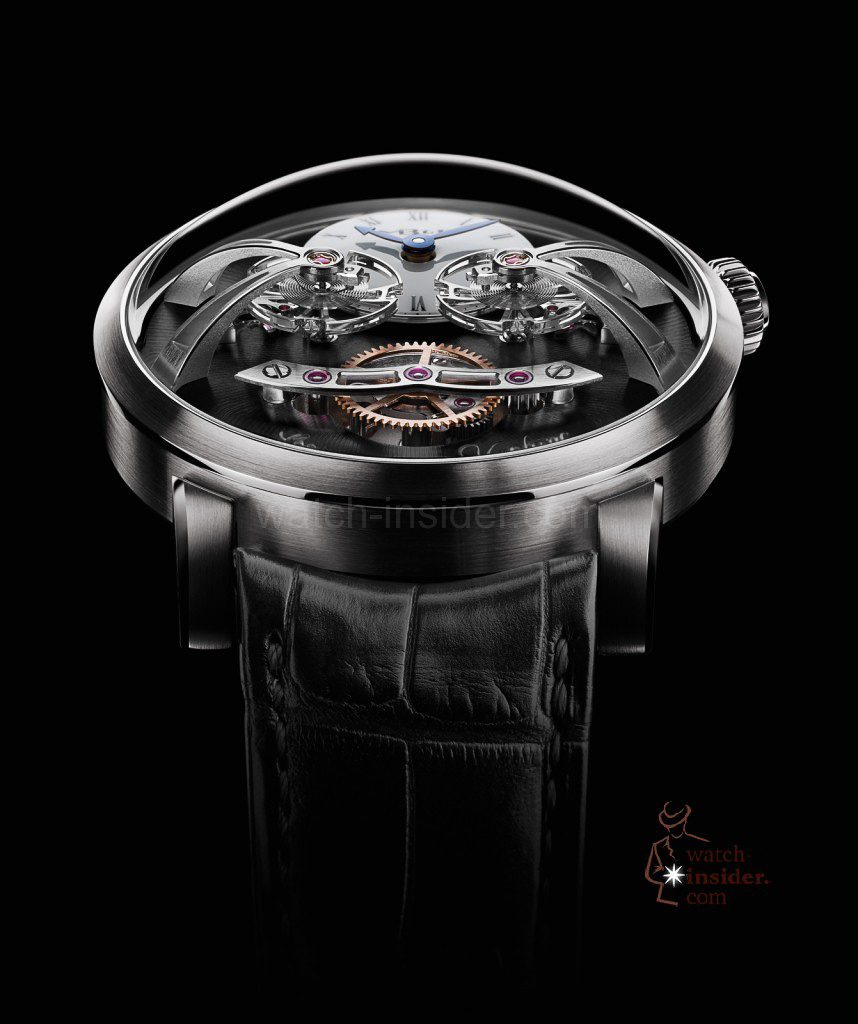 www.watch insider.com | videos reportages news  | Max Büsser strikes again! Have a look at the MB&F Legacy Machine No. 2 | LM2 WG Face Lres 858x1024