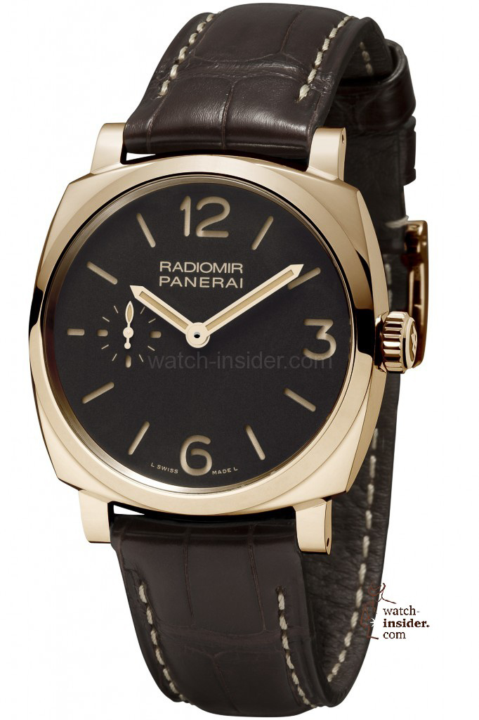 www.watch insider.com | reportages  | It's ladies' time. My personal top 15 ladies watches 2013 | Panerai Radiomir 1940 Oro Rosso 42mm 682x1024
