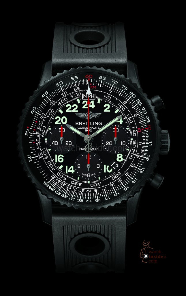 www.watch insider.com | news  | Cool or not cool? The new Breitling Navitimer Cosmonaute Blacksteel versus its classical edition | br14240c navitimer cosmonaute blacksteel fondn  645x1024