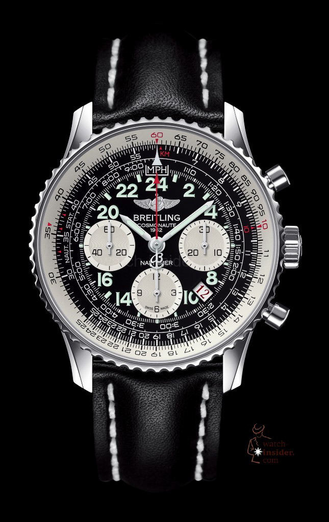 www.watch insider.com | news  | Cool or not cool? The new Breitling Navitimer Cosmonaute Blacksteel versus its classical edition | chr13 navitimer cosmonaute 2 645x1024