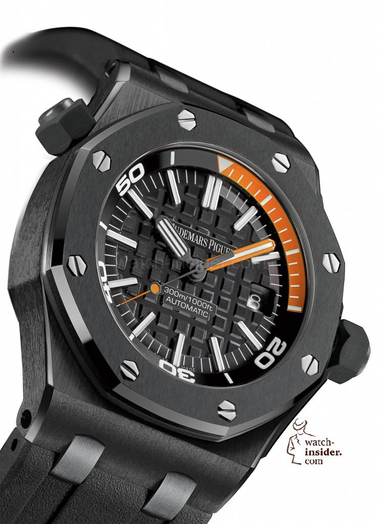 www.watch insider.com | reportages  | My 2013 top five all black watches | Audemars Piguet Royal Oak Offshore Diver 744x1024