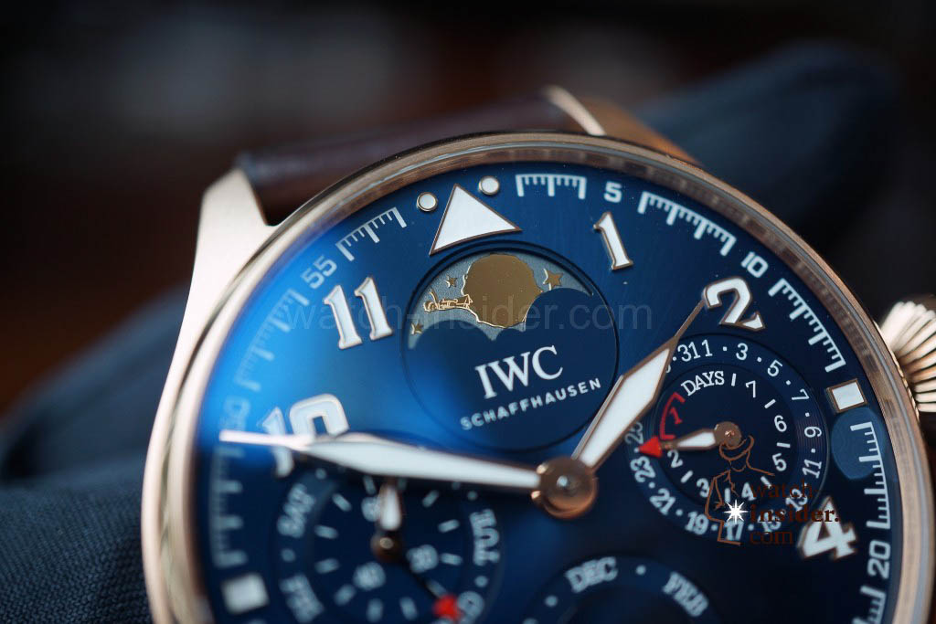 "www.watch insider.com | reportages news  | Hands on: IWC The Big Pilot's Watch Perpetual Calendar Edition ""Le Petit Prince"" 