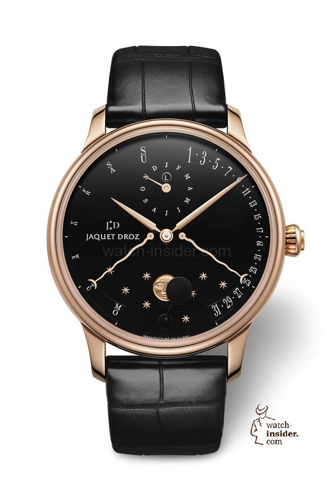 www.watch insider.com | news  | The Perpetual Calendar Éclipse by Jaquet Droz | J030533200 PERPETUAL CALENDAR ECLIPSE BLACK ENAMEL HR 682x1024