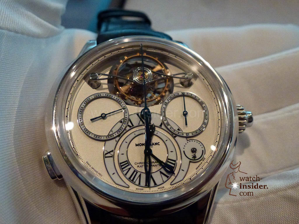 www.watch insider.com | videos reportages news  | I just had my hands on the Montblanc Collection Villeret 1858 ExoTourbillon Rattrapante | P1000222 1024x768