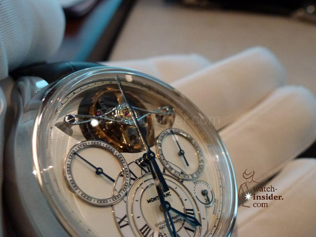 www.watch insider.com | videos reportages news  | I just had my hands on the Montblanc Collection Villeret 1858 ExoTourbillon Rattrapante | P1000224 1024x768