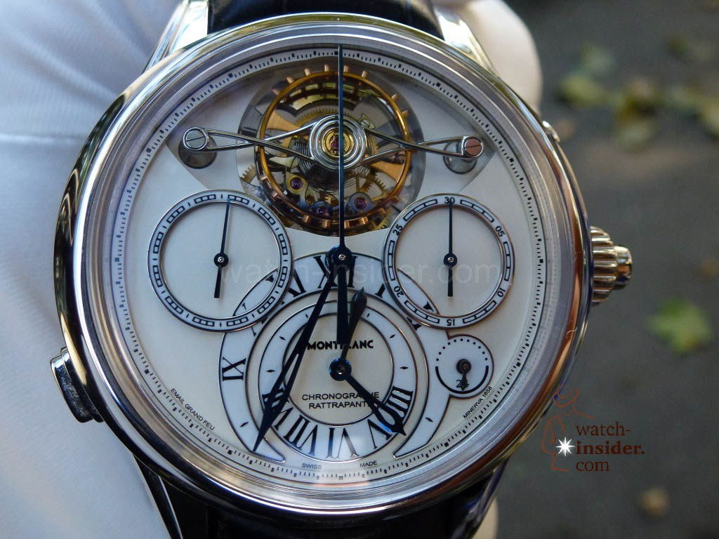 www.watch insider.com | videos reportages news  | I just had my hands on the Montblanc Collection Villeret 1858 ExoTourbillon Rattrapante | P1000231 1024x768