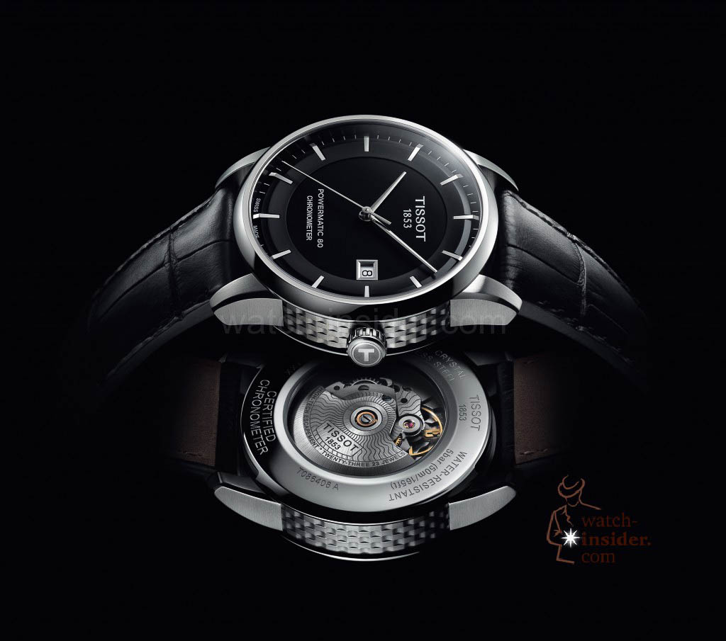 www.watch insider.com | reportages news  | The Tissot Powermatic 80 Automatic caliber is ushering in a new era of ultra precise low cost mechanical movements | Tissot Luxury Black Background 1024x905