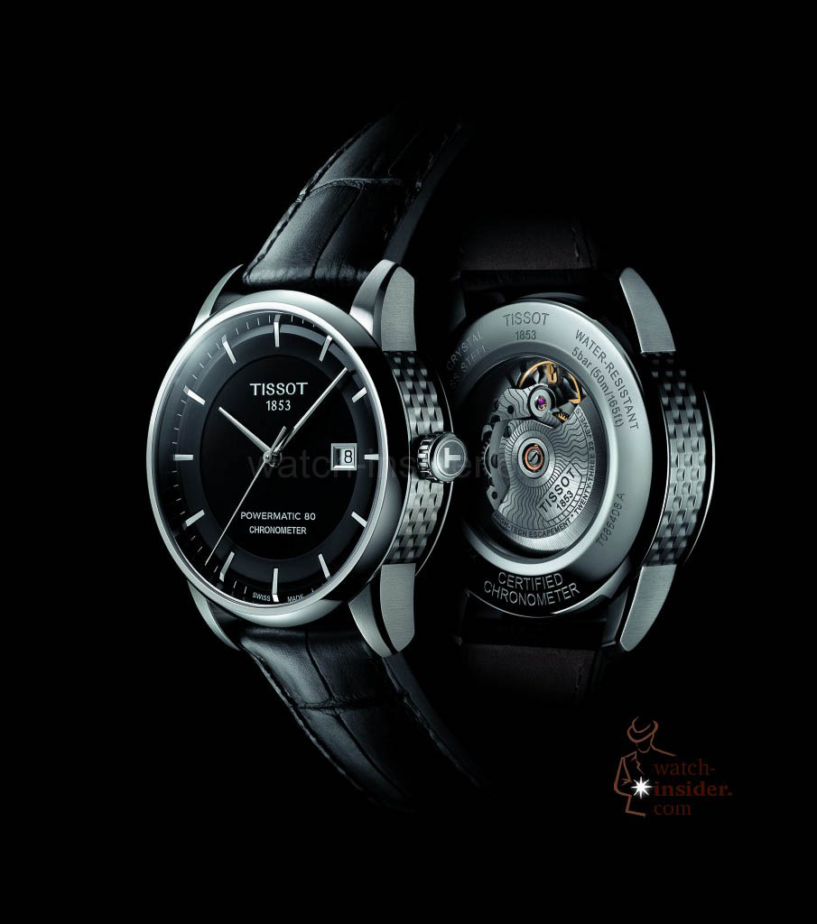 www.watch insider.com | reportages news  | The Tissot Powermatic 80 Automatic caliber is ushering in a new era of ultra precise low cost mechanical movements | Tissot Luxury Black Background up 905x1024