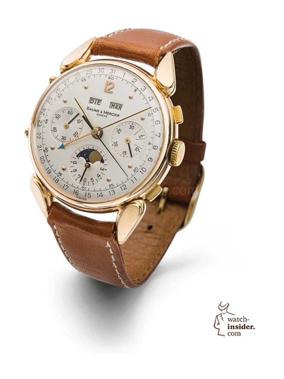 Baume amp Mercier Complete Calendar Chronograph Watch From The 1950s