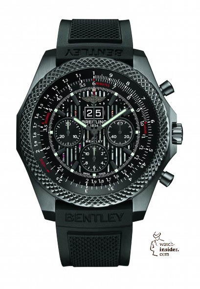 Breitling for Bentley 6.75 Midnight Carbon - front - white background