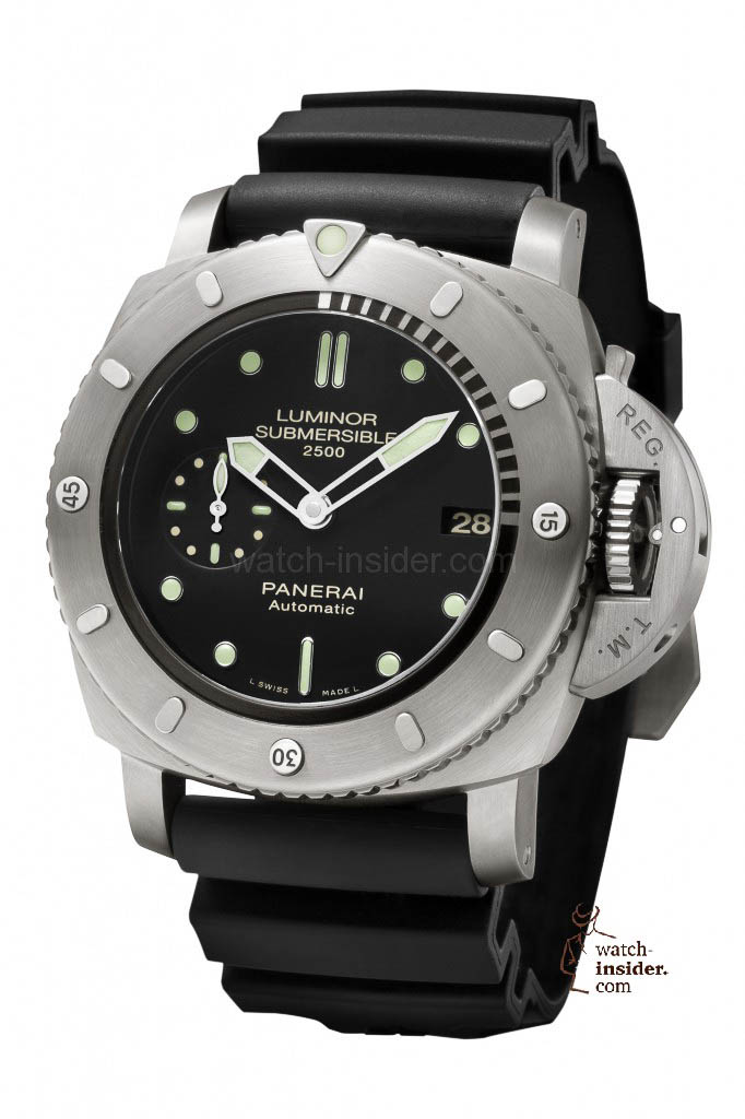 Panerai Luminor Submersible 1950 2500m 3 Days Automatic Titanio