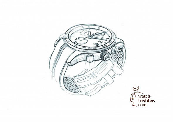 Porsche Design sketch Timepiece No.1