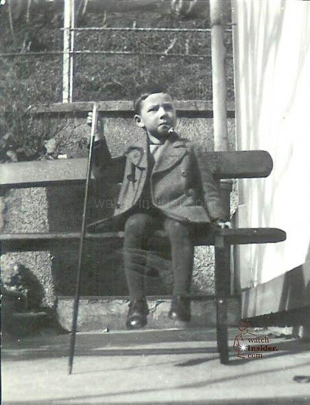 Kurt Klaus in St. Gallen, Switzerland, at the age of five.