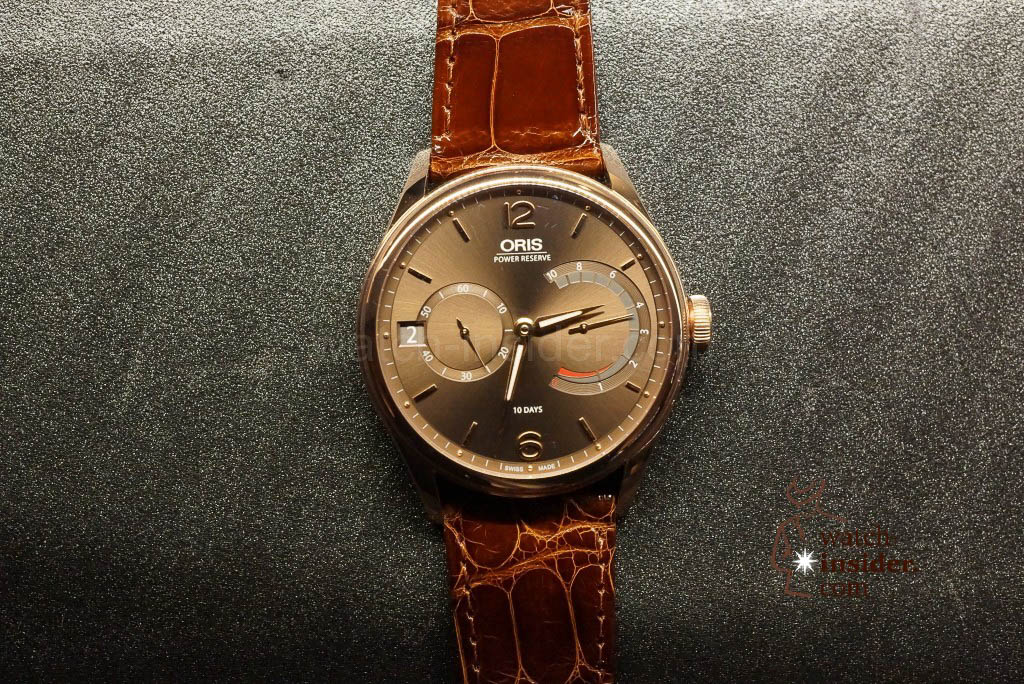 Oris calibre 111 in red gold