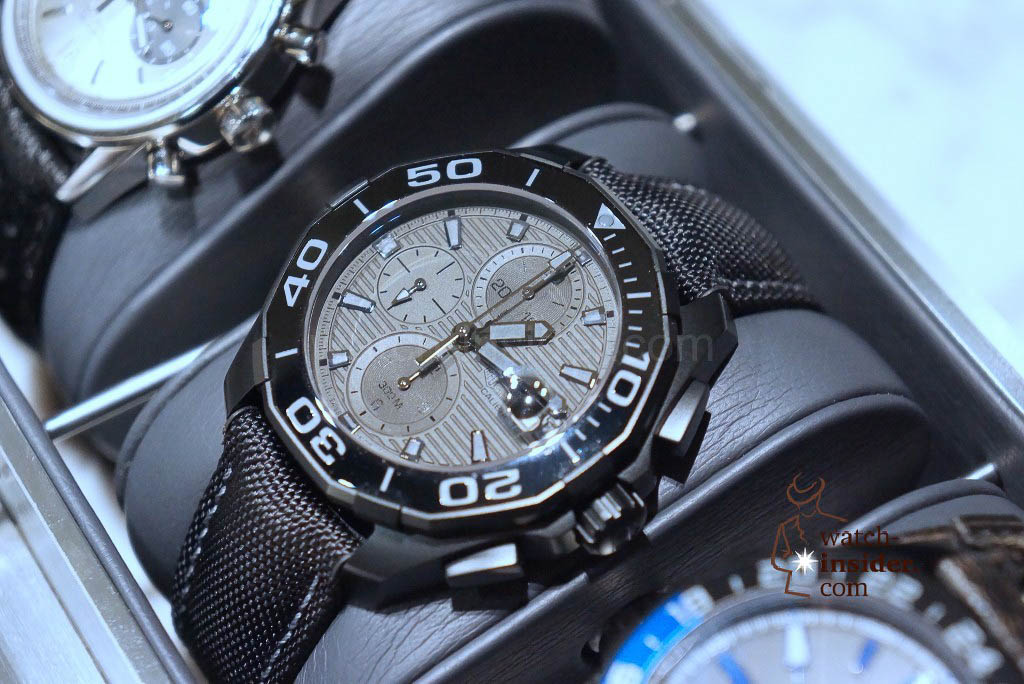 TAG Heuer Aquaracer 300M Ceramic (43mm) Calibre 16 Automatic Chronograph Black Phantom