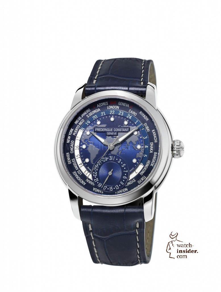 Frederique Constant Classics Manufacture Worldtimer Blue