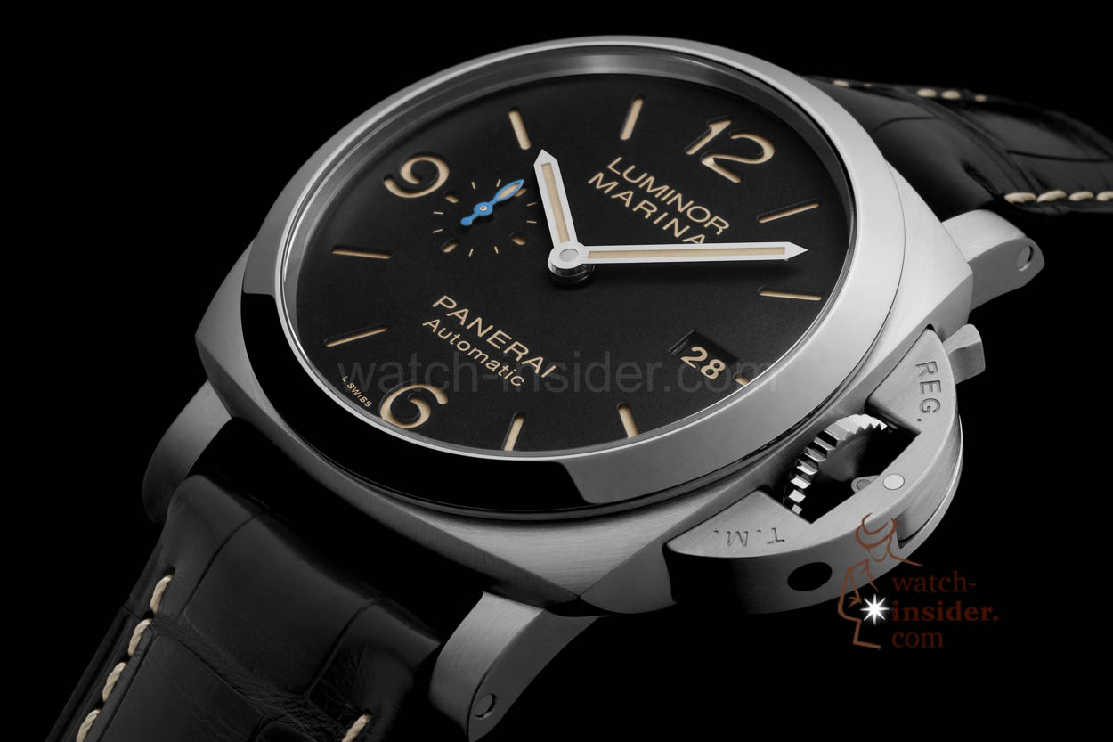the new panerai luminor marina 1950 3 days automatic much thinner and lighter than those. Black Bedroom Furniture Sets. Home Design Ideas