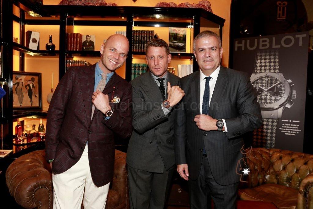 Luca Rubinacci, Lapo Elkan and Ricardo Guadalupe