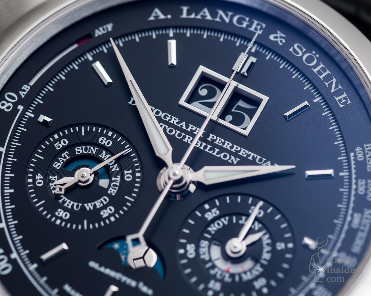 Alpha hands on the A. Lange & Söhne Datograph